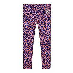 Converse - Girls' pink leopard print leggings