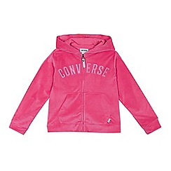 Converse - Girls' pink velour jacket