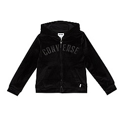 Converse - Girls' black velour jacket