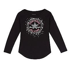 Converse - Girls' black logo print top