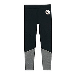 Converse - Girls' black colour block leggings