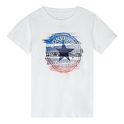 Converse - Boys' white glitch print t-shirt