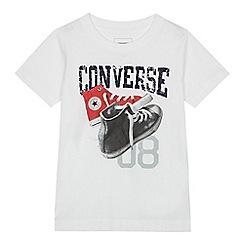 Converse - Boys' white sneaker print t-shirt