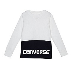 Converse - Boys' white long sleeved t-shirt