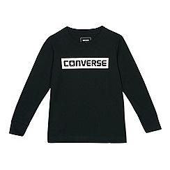 Converse - Boys' black logo print top