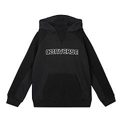 Converse - Boys' black textured hoodie