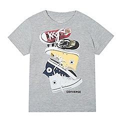 Converse - Boys' grey sneaker print t-shirt