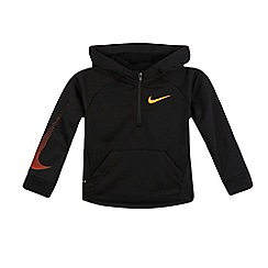 Nike - Boys' black 'Dri-Fit' quarter zip hoodie