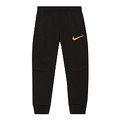Nike - Boys' black embroidered logo 'Therma' jogging bottoms