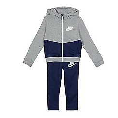 Nike - Boys' grey and navy zip through hoodie and jogging bottoms