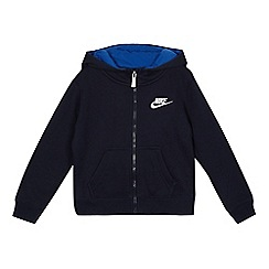 Nike - Boys' navy zip though hoodie