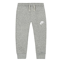 Nike - Boys' grey embroidered logo jogging bottoms