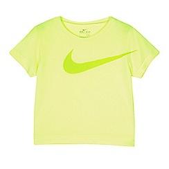 Nike - Boys' lime green 'Dri-Fit' t-shirt