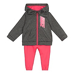 Nike - Baby girls' pink 'Therma' hoodie and jogging bottoms set