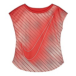 Nike - Girls' pink swoosh 'Dri-Fit' t-shirt