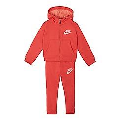 Nike - Girls' pink zip through hoodie and jogging bottoms