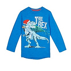 bluezoo - Boys' blue 'Tree Rex' light up top