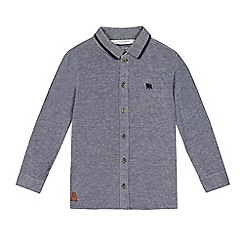 J by Jasper Conran - Boys' navy textured party jersey shirt