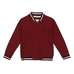J by Jasper Conran - Boys' dark red bomber jacket