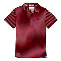 J by Jasper Conran - Boy's red striped polo shirt