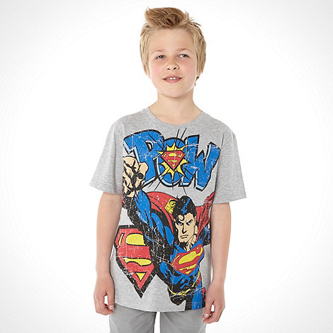Superman - Boy+s grey +Pow+ t-shirt