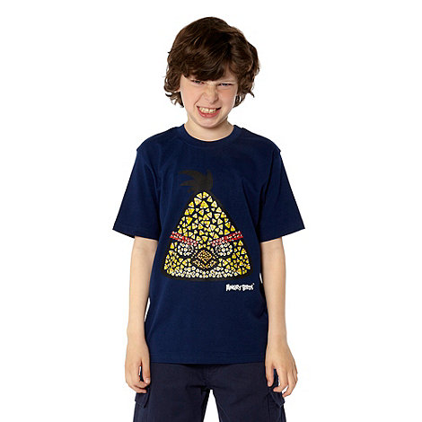 angry birds - Boy+s navy +Angry Birds+ printed t-shirt