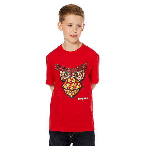 angry birds - Boy+s red +Angry Birds+ printed t-shirt