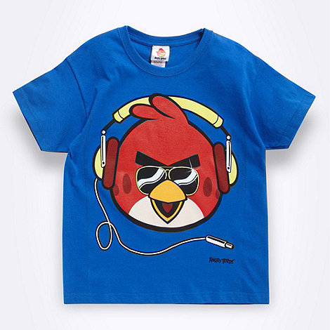 angry birds - Boy+s blue +Angry Birds+ printed t-shirt