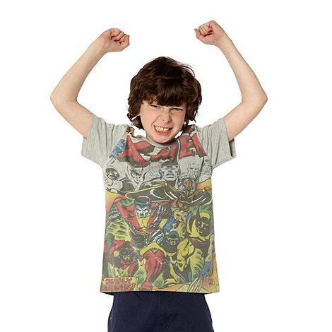 X Men - Boy+s grey +X Men+ printed t-shirt