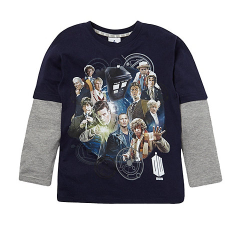 Doctor Who - Boy+s blue +Doctor Who+ t-shirt