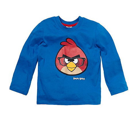 Angry birds - Boy+s blue +Angry Birds+ long sleeved top