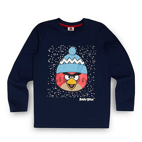 Angry birds - Boy+s navy +Angry Birds+ print long sleeve top