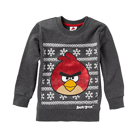 Angry birds - Boy+s grey festive +Angry Birds+ top
