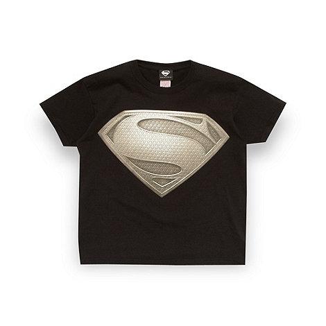 Superman - Boy+s black +Man of Steel+ t-shirt