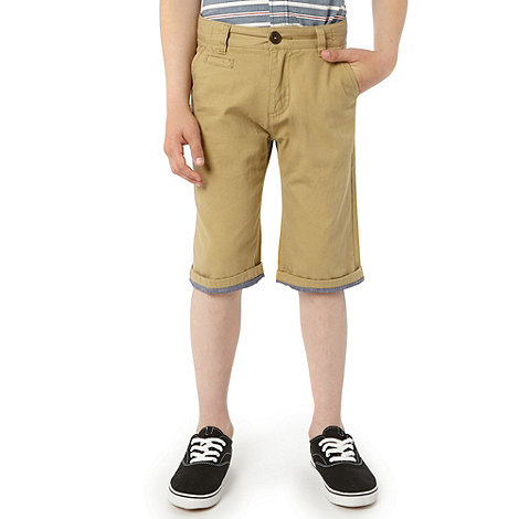 Silver Eight - Boy+s camel chino shorts