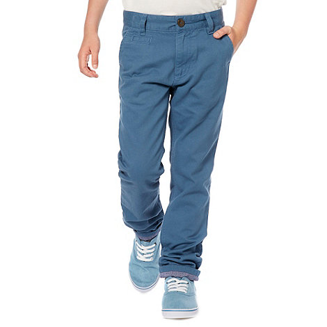 Silver Eight - Boy+s blue chino trousers