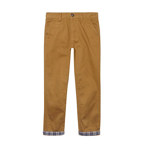 Silver Eight - Boy+s natural turn up chinos