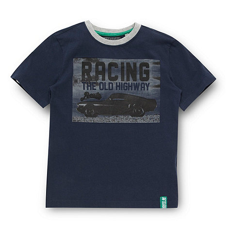 Route 66 - Boy+s navy photographic car t-shirt