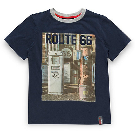 Route 66 - Boy+s navy graphic printed t-shirt