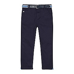 J by Jasper Conran - Boys' navy belted slim fit chinos