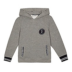 J by Jasper Conran - Boys' grey textured hoodie