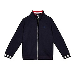 J by Jasper Conran - Boys' navy zip through sweatshirt