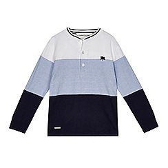 J by Jasper Conran - Boys' blue striped Henley top