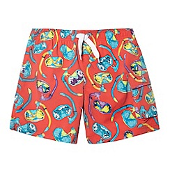 bluezoo - Boy's red snorkel swim shorts