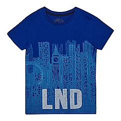 bluezoo - Boys' blue city print top