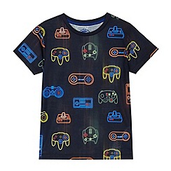 bluezoo - Boys' navy games console t-shirt