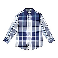 J by Jasper Conran - Boys' navy checked shirt
