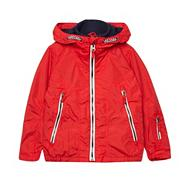 Boy's red fleece hooded coat