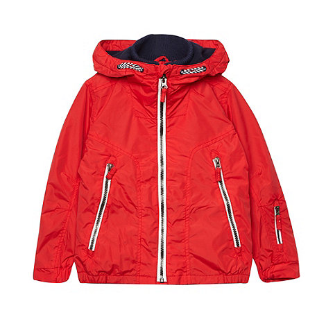 bluezoo - Boy+s red fleece hooded coat