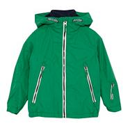 Boy's green hooded jacket
